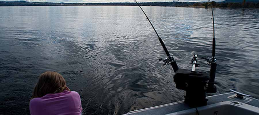 down riggers fishing taupo